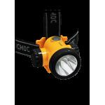 Фонарь налобный аккумуляторный литиевый КОСМОС H3W, 1,500mAh, 2 режима, 3W LED, зарядка от USB