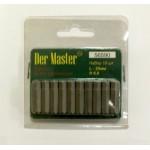Набор бит 56590 односторонних 6,35х25мм HEX 6.0 10шт в наборе(50/100 в кор.) Дер Мастер