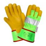 Кожаные перчатки повышенной видимости (HiViz) 2Hands 0137