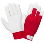 Перчатки кожаные комбинированные на велкро 2Hands 0222