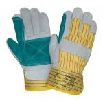 Перчатки спилковые комбинированные 2Hands 0210