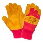 Перчатки спилковые комбинированные утепленные Siberia 0382